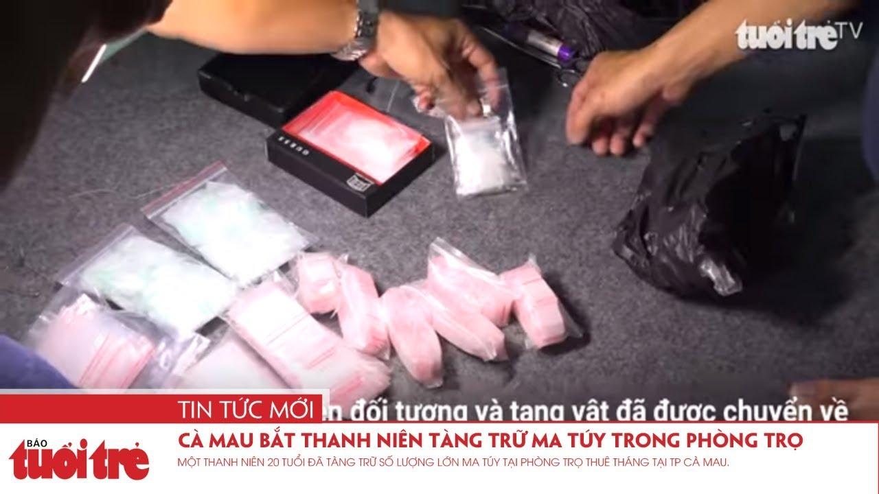 Cà Mau bắt thanh niên tàng trữ ma túy trong phòng trọ