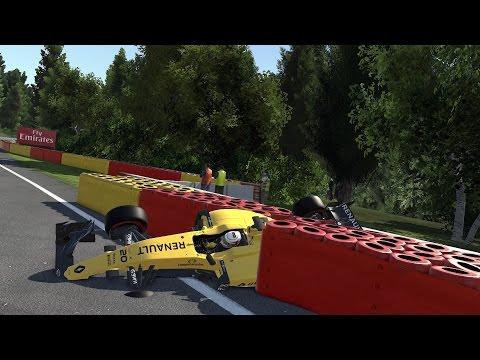 F1 2016 GAME SPECTACULAR/REALISTIC & UNBELIEVEBALE CRASHES!!!