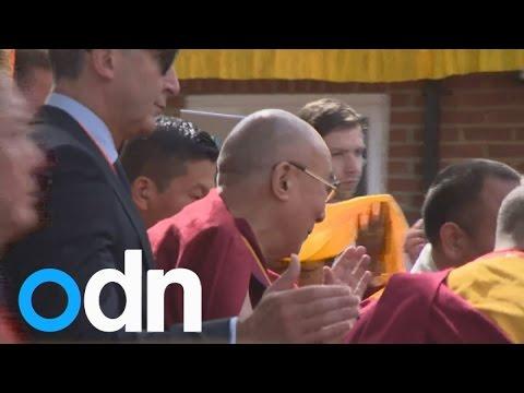 Dalai Lama opens Buddhist Community Centre amid protests