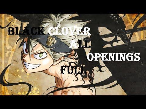 Black Clover All Openings 1-4 FULL