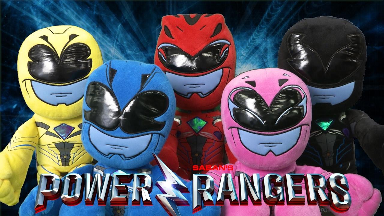 power rangers blue black pink yellow amp red ranger plush