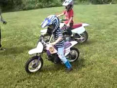 5 yr old Brandon finally rides his Yamaha PW50
