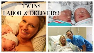 LABOR & DELIVERY VLOG | TWINS!