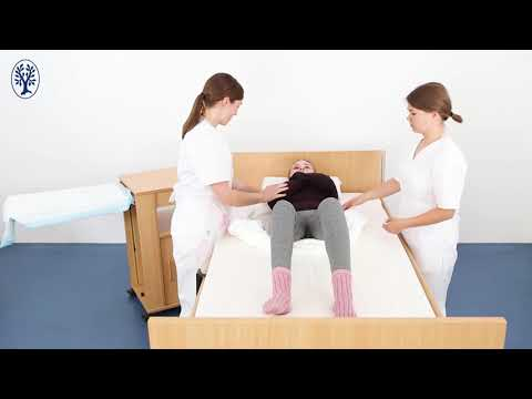 Mobilisieren Im Bett: Zum Kopfende Bewegen