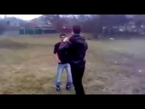 Драка один на один  Русский против кавказца