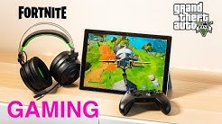 Surface Pro 7 Gaming Review | Fortnite, GTA 5, Civ 6 Benchmarks Can it Game? 10th Gen Intel Ice Lake