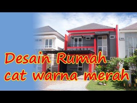 Warna Cat Rumah Minimalis Ruko kombinasi warna cat merah rumah minimalis bagian luar yang