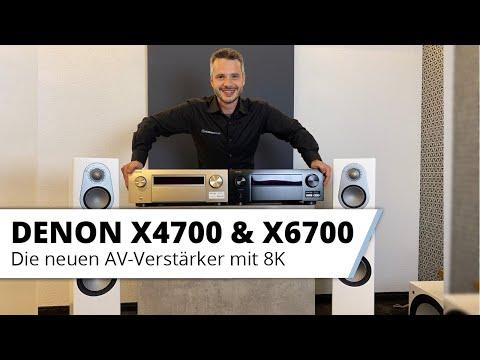 Die neuen AV-Verstärker mit 8K - Denon X4700 & X6700