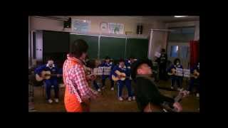 120220福島市立蓬莱中学校で2000人ギター弾き語り