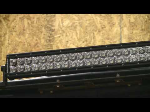 """Ford Super Duty Pictures - Rigid Industries 20"""" LED Light Bar Night Comparison"""