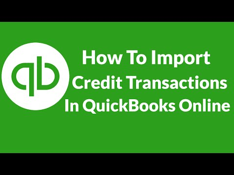 Lesson 10 How To Import Credit Card Transactions In QuickBooks Online