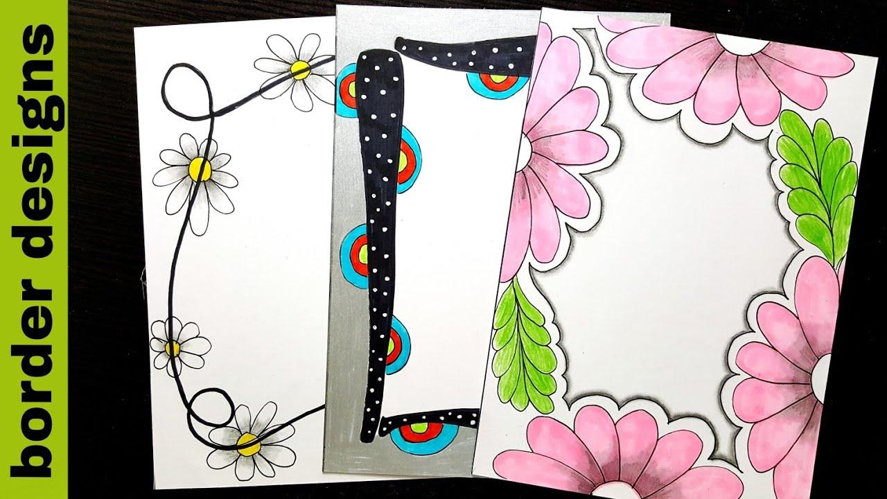 Floral   Border designs on paper   border designs ...