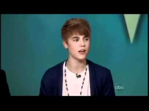 Justin Bieber - Never say Never Acapella [on The View]