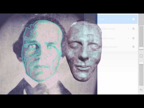 Matching my 1840s Illinois Man's face, to the Joseph Smith Dibble Death Mask, Outlining high Res