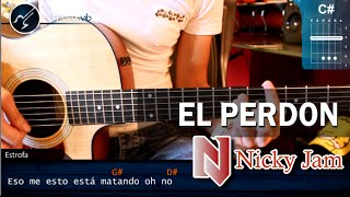 Como tocar El Perdon NICKY JAM Ft. ENRIQUE IGLESIAS En Guitarra (HD) Tutorial Acordes