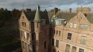 Abandoned Craigtoun Maternity Hospital Aerial - St Andrews Scotland