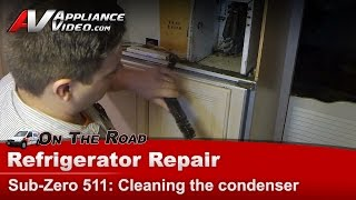 Sub-Zero Refrigerator not cooling - dirty condenser - compressor overheating