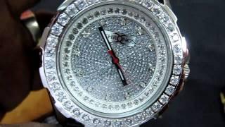 SO ICY JEWELRY 015.MOV DIAMOND FULLY CASED DIAMOND WATCH