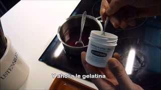 Espuma De Coco En Gelatina De Hibiscus