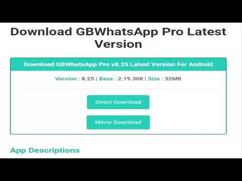 GB WhatsApp 8.25 Latest Version 2020 /how to download ...