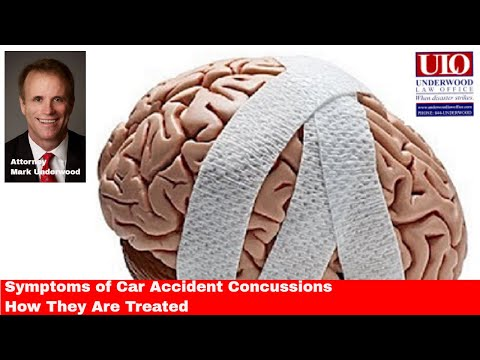 Symptoms of car accident concussions and how they are treated