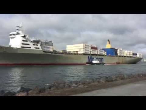Matson container ship.