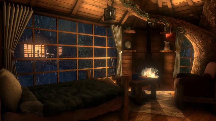 Permanent Link to Cozy Treehouse – Rain & Fireplace Sounds for 12 hours | Sleep, Study, Meditation