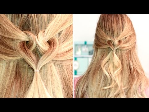 Heart hairstyle for medium long hair tutorial