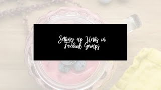 HOW TO SET UP UNITS IN FACEBOOK GROUPS