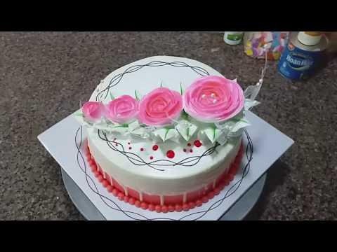 Decorating Simple Cream Cake, Beautiful (27) Cách Trang Trí Bánh Kem Đơn Giản Đẹp