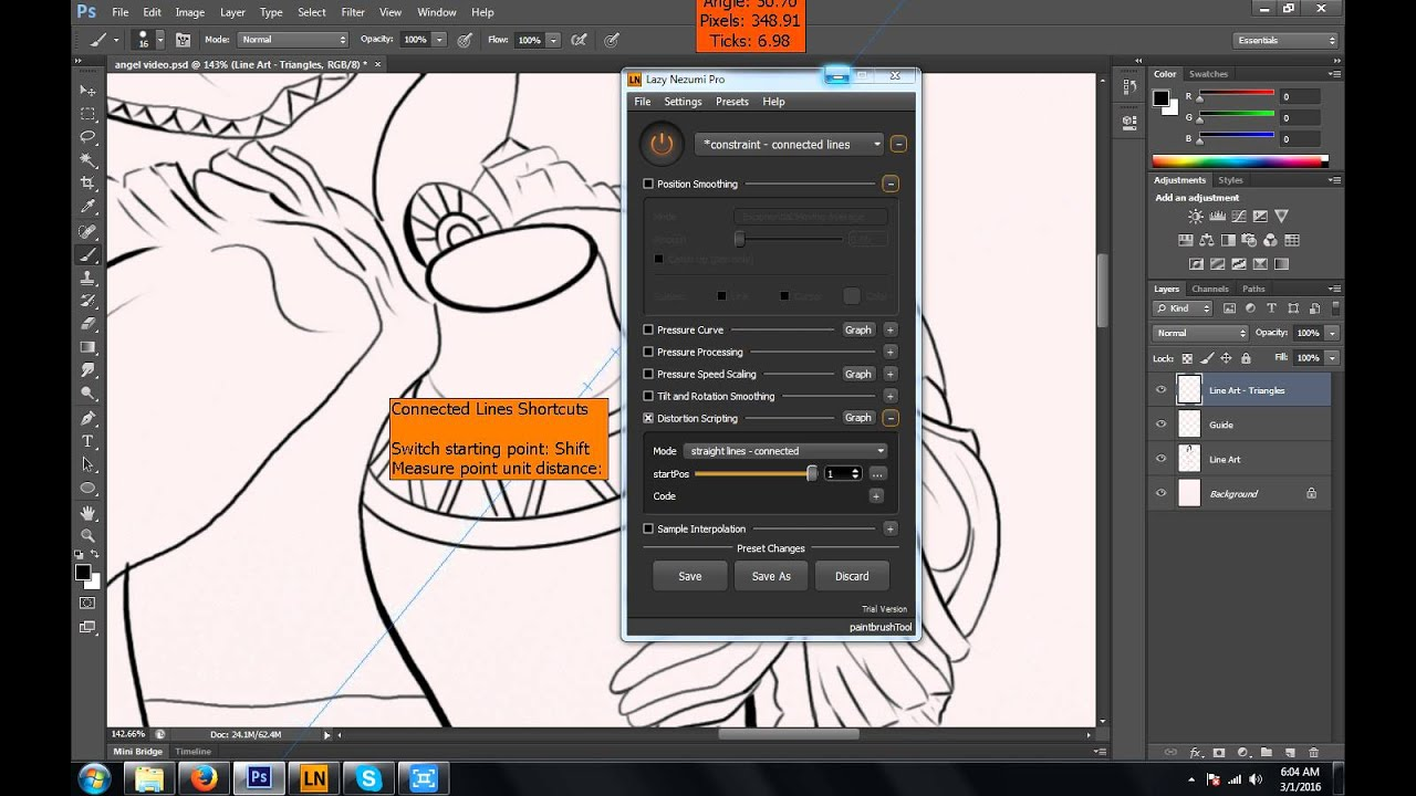 Lazy Nezumi Pro Review with Photoshop Lineart Demonstration - YouTube