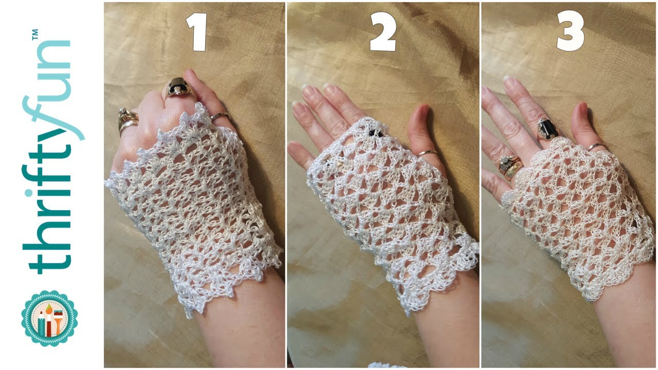 3 Crocheted Lace Glove Patterns - YouTube