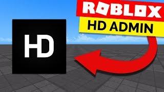 كيفية إضافة المشرف الأوامر في اللعبة Roblox - HD المشرف [1]