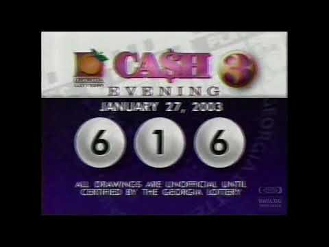 Georgia Lottery Cash 3 Evening Drawing (01-27-2003)