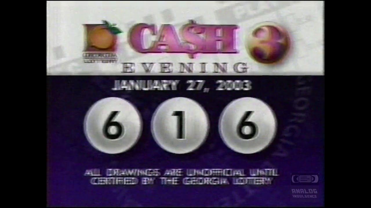 Georgia Lottery Cash 3 Evening Drawing (01-27-2003)