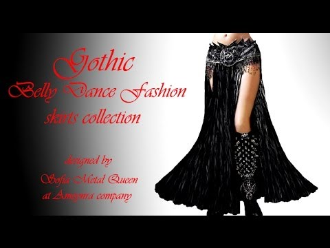 Long Skirt Mermaid skirt. Belly Dance. Formal Skirt. |Gothic Belly Dance Skirts