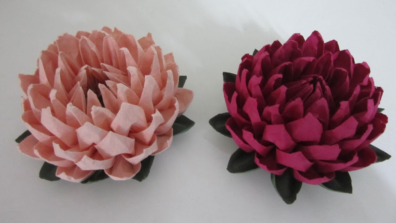 Tutorial paper flower simple and easy to make lotus flower tutorial paper flower simple and easy to make lotus flower youtube izmirmasajfo