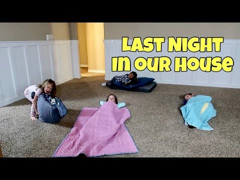 24 Hours in our EMPTY HOUSE | Last Night in our House