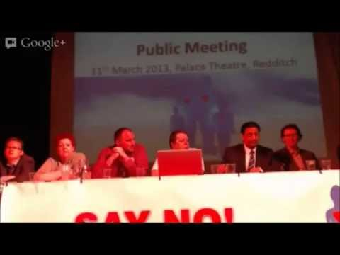 Public Meeting @ Redditch Palace Theatre 11 03 13
