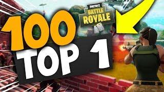 MON 100 ÉME TOP 1 SUR FORTNITE !