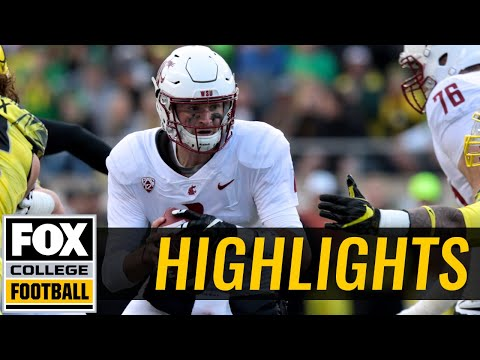 Washington State vs Oregon | Highlights | FOX COLLEGE FOOTBALL