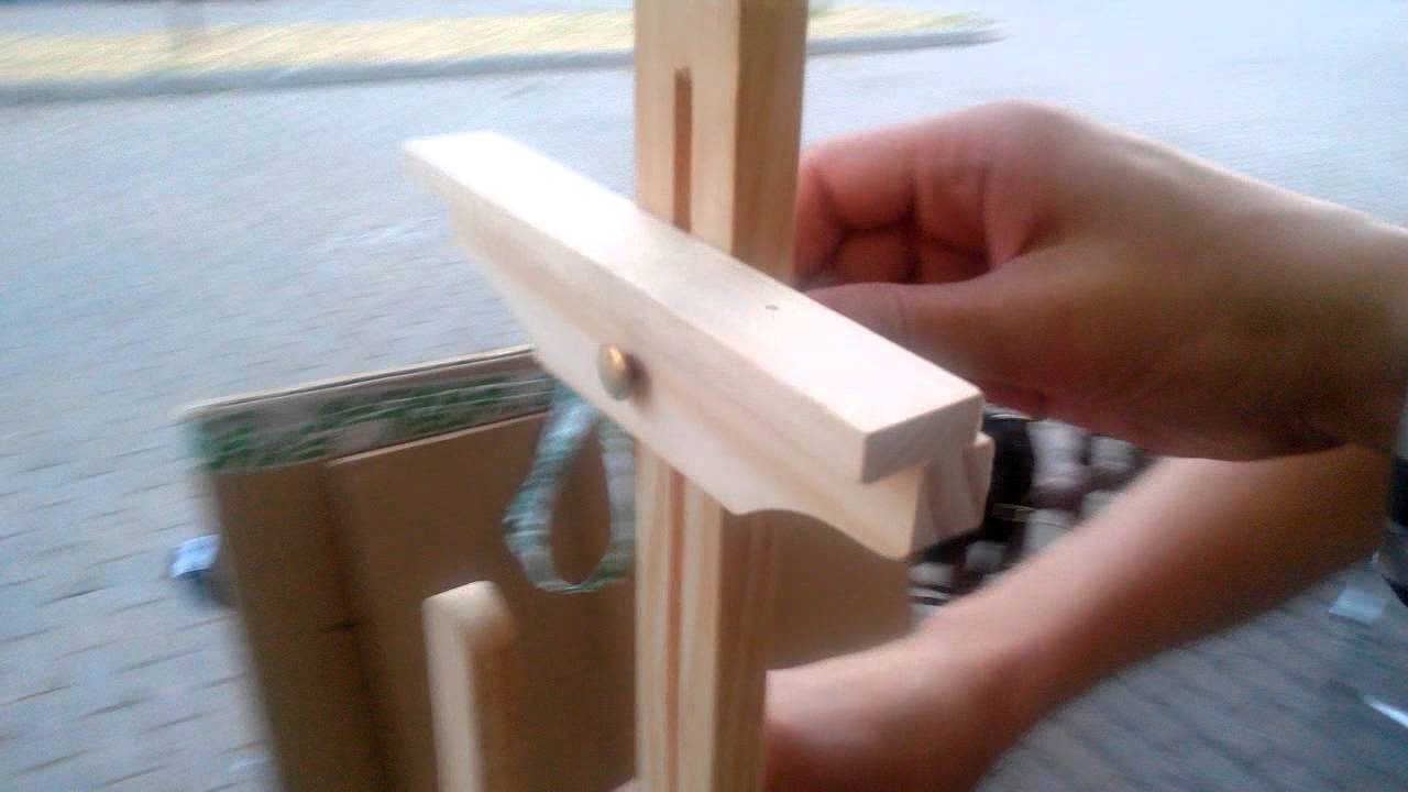 Easel hand made - YouTube