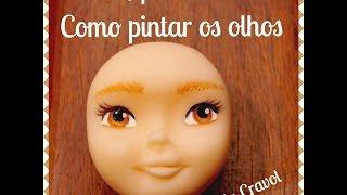 Como pintar olhos - Biscuit - porcelana fria-  By Bia Cravol
