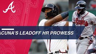 Ronald Acuna Jr.'s 6 leadoff homers in 2018