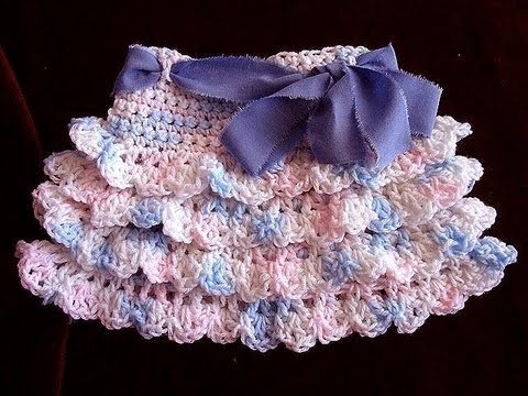 crochet RUFFLED SKIRT, how to diy, make it any size, baby to adult ...