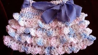 crochet RUFFLED SKIRT, how to diy, make ...