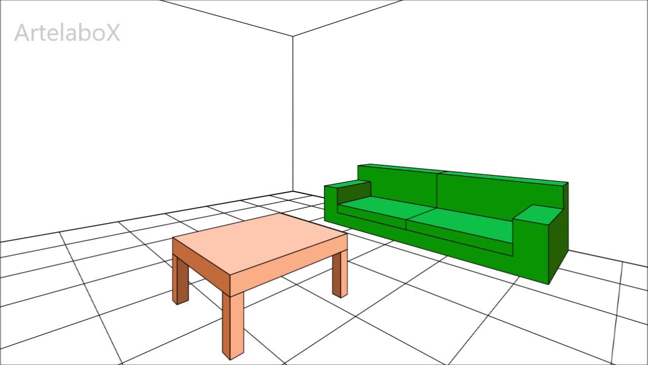 Prospettiva Centrale E Accidentale prospettiva accidentale #5 arredare una stanza . living-room furniture in  perspective