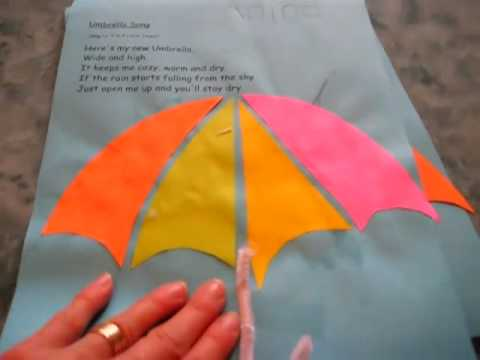 Arts Crafts Activity Weather Theme Project For Rainy Day Umbrella Rhyme And Glue