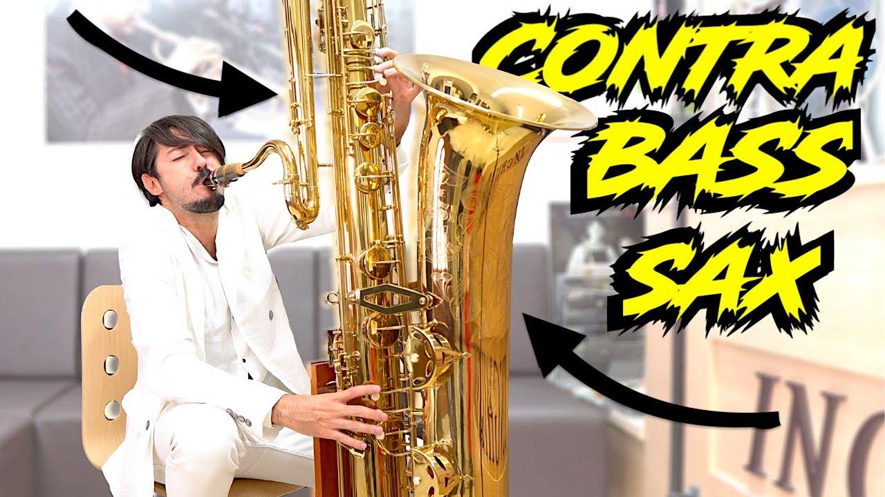 """CONTRABASS SAXOPHONE"" (really BIG)"
