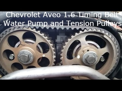 2004 2008 Chevrolet Aveo Timing Belt Replacement Detailed 1 6 Diy